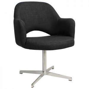Albany Armchair Swivel Base Stainless Steel