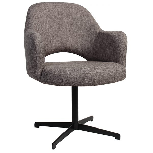 Albany Arm Chair Swivel Base Black