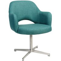 Albany Arm Chair - Swivel Base - Stainless Steel