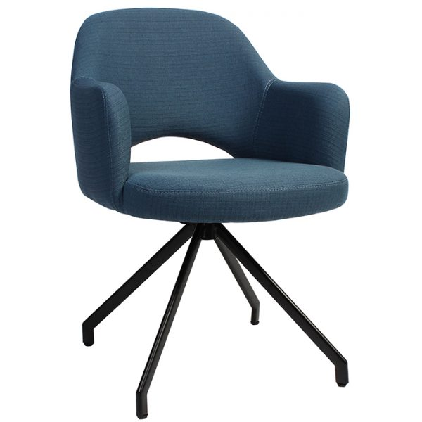 Albany Arm Chair Trestle Base Black