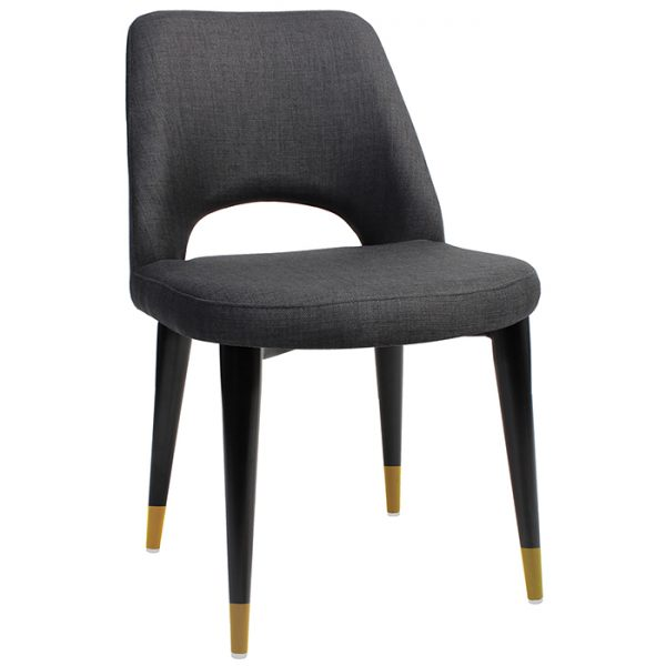 Albany Chair - Timber Base - Brass