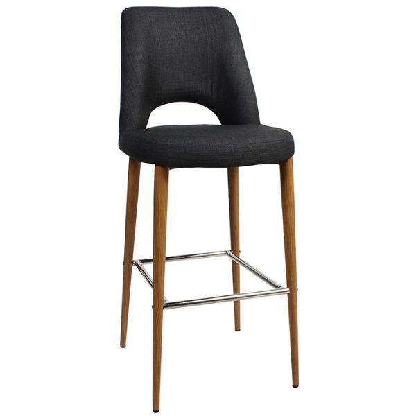 Albany Stool 750mm - Metal - Light Oak