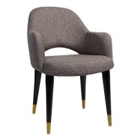 Albany XL Tub Chair - Timber Base Brass