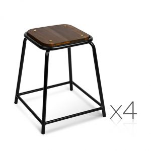 Pine Wood Low Stool