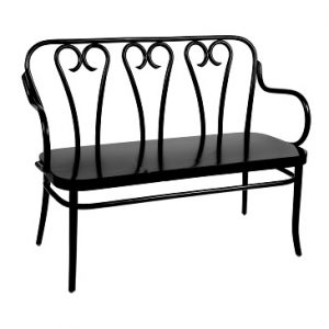 Bentwood Love Seat - Solid Seat