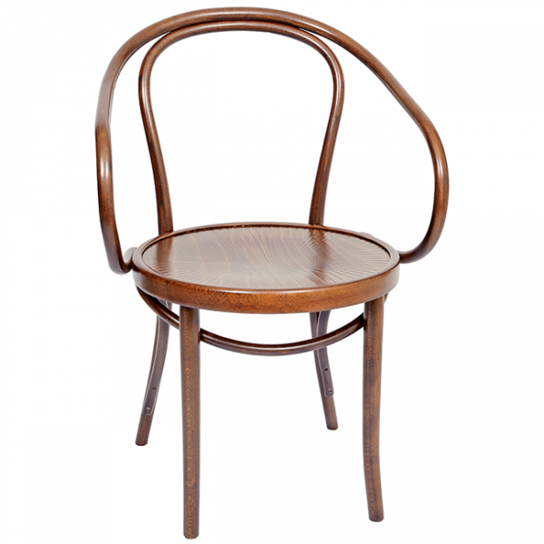 Bentwood Croissant Chair Stained