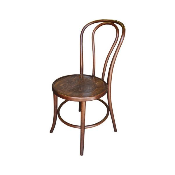 Bentwood Chair Stackable Stained Walnut