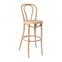 Bentwood Bar Stool With Back Natural (Australia Wide Shipping)