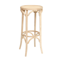 Bentwood Thonet Bar Stool 800H Stained