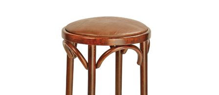 Bentwood Stool 800H Stained