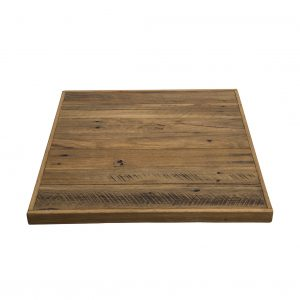 Boat Table Top Recycled Natural Hardwood