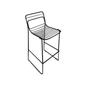 Boss Outdoor Metal Stool Black