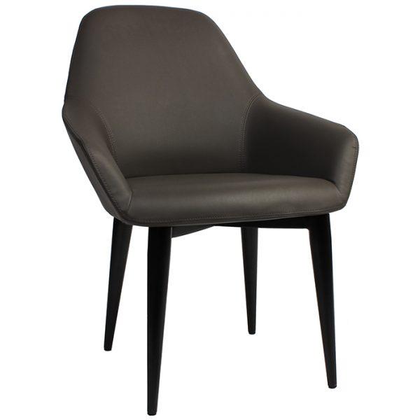 Bronte Tub Chair - 4-Leg Metal black