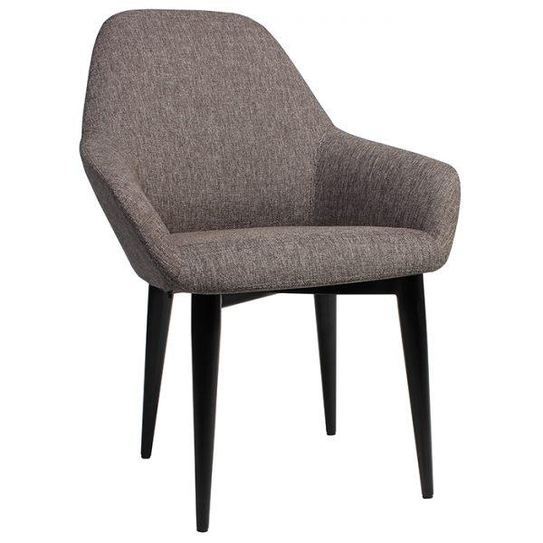 Bronte Coloured Tub Chair Metal Base