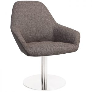 Bronte Coloured Tub Chair Disc Base