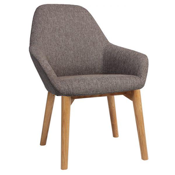 Bronte Tub Chair - 4-Leg Timber light Oak / light Walnut