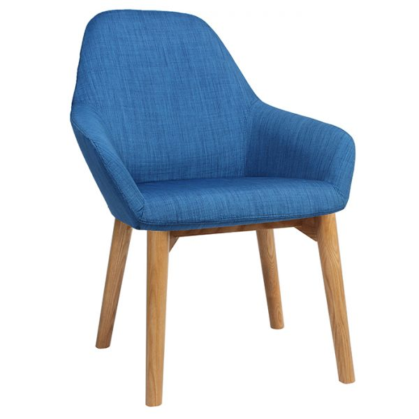 Bronte Coloured Tub Chair Timber Base