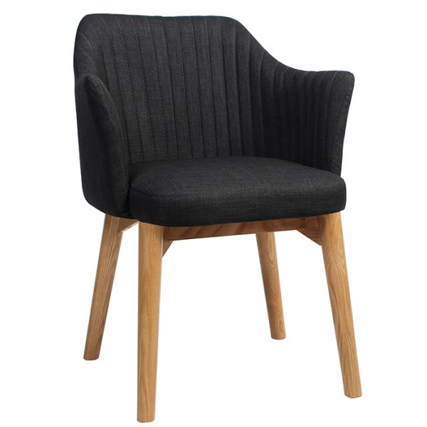 Coral Arm Chair Wooden Base
