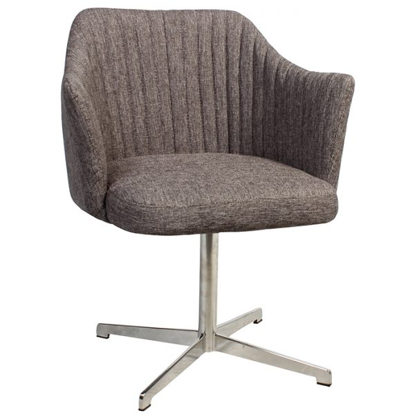 Coral Arm Chair - Swivel Base Stainless Steel