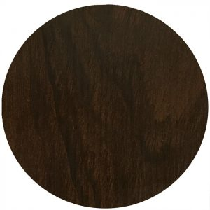 EZTOP Brass Edge Round 600mm - Dark Walnut