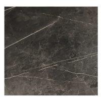 EZTOP Brass Edge Square 700mm - Black Marble