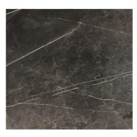 EZTOP Brass Edge Square 800mm - Black Marble