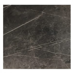 EZTOP Brass Edge Square 800mm - Black Marble