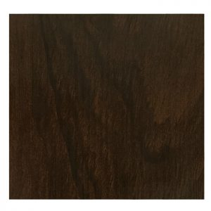 EZTOP Brass Edge Square 700mm - Dark Walnut