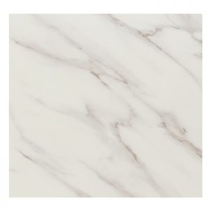 EZTOP Brass Edge Square 800mm - White Marble