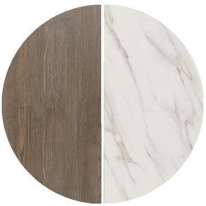 EZTOP Reversible Round 600mm - Marble/Ash