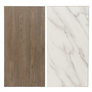 EZTOP Reversible Square 700mm - Marble/Ash