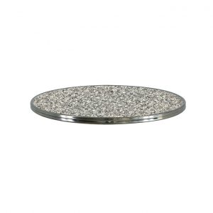 SM France Round - Granit Gris Silver Edge