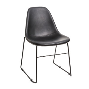 J Sled Chair Leather Dining Chair