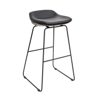 J Sled Stools (Black Counter Stools)