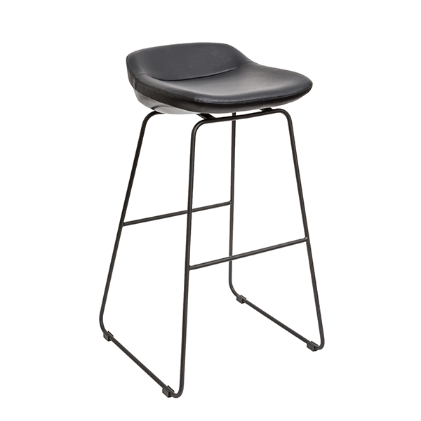 J Sled Leather Bar Stool