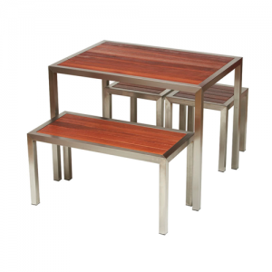 Kane Set (outdoor bar table set)