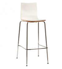 Lily Stool (White Timber Bar Stools)