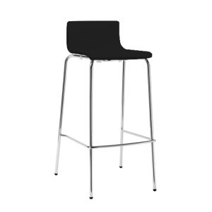 Lily Low Stool PVC Black