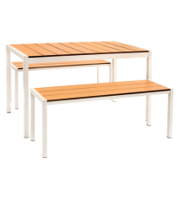 Piano Bar Set (2400 x 900) Outdoor Table and Bench
