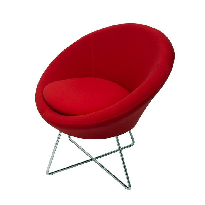 Splash Cone Chair - Chrome cross base