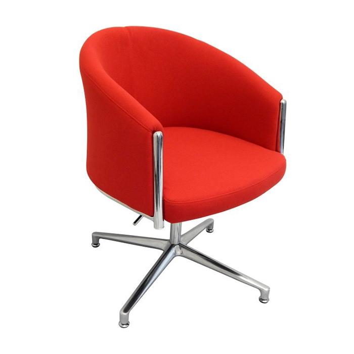 Splash Club Chair Chrome Blade Base