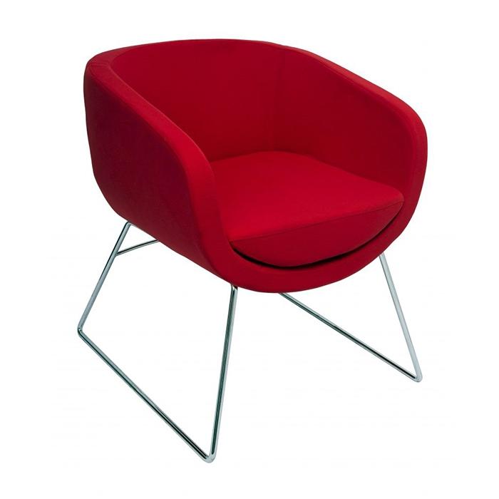Splash Cube Chair - Chrome sled base
