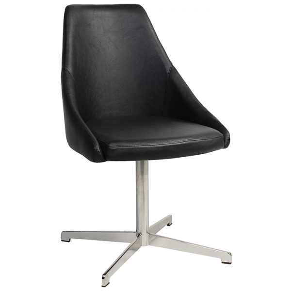 Sweden Chair - Swivel Base Stainless Steel