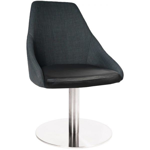 Sweden Chair - Disc Base - Stainless Steel
