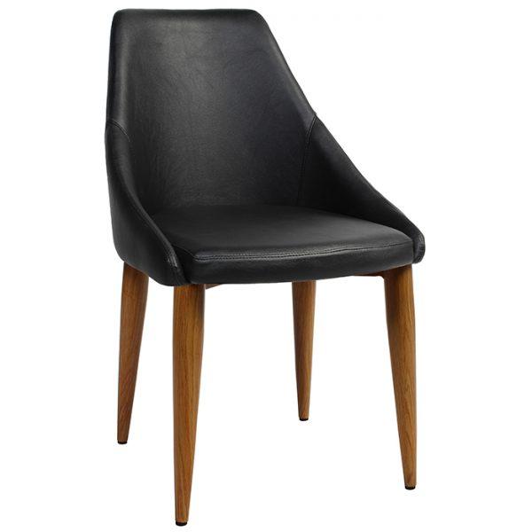 Sweden Chair - Metal Base - Light Oak