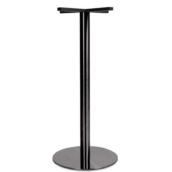 Toledo Table Base - 1050mm - black Chrome
