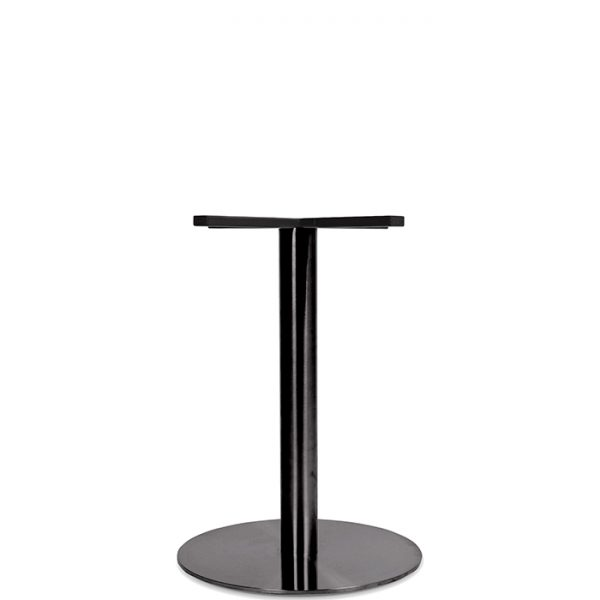 Toledo Table Base - 700mm - black Chrome