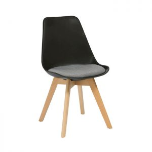 Virgo Chair - Oak stained Timber 4 Leg