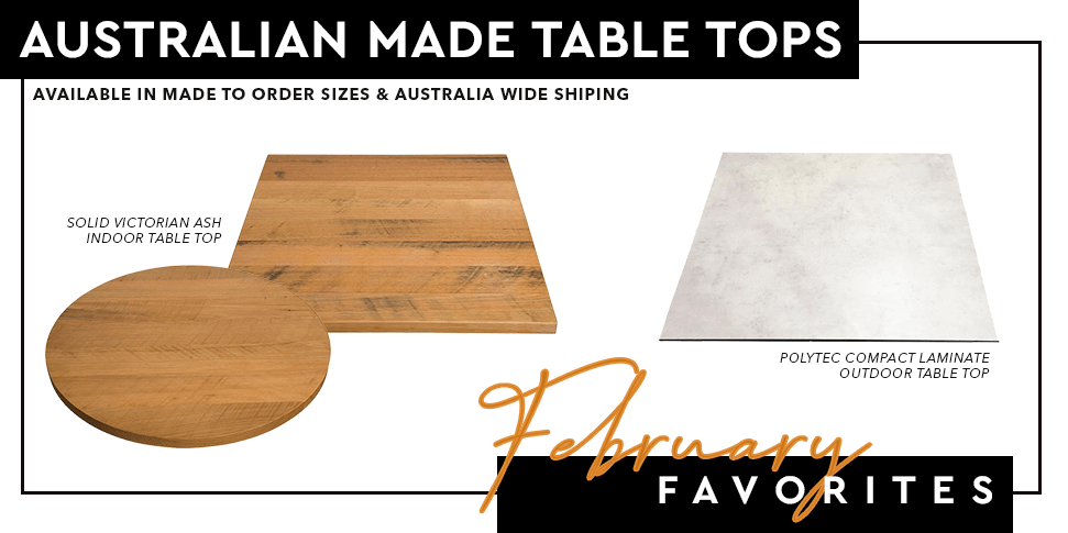 Cafe Table Tops made in Australia